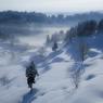 雪深き棚田