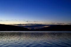 諏訪湖からの富士山の季節になっていた (1)