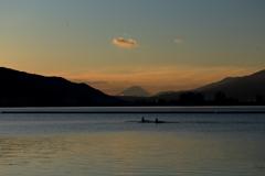 諏訪湖からの富士山の季節になっていた (3)