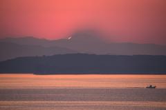 遠望ダイヤモンド富士-日の出-