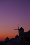 夕暮れ風車