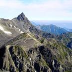 SONY DSC-P100で撮影した風景(槍ヶ岳)の写真(画像)