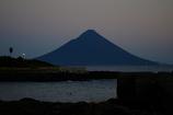 夕暮れの薩摩裏富士