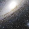 アンドロメダ大銀河と伴銀河試写