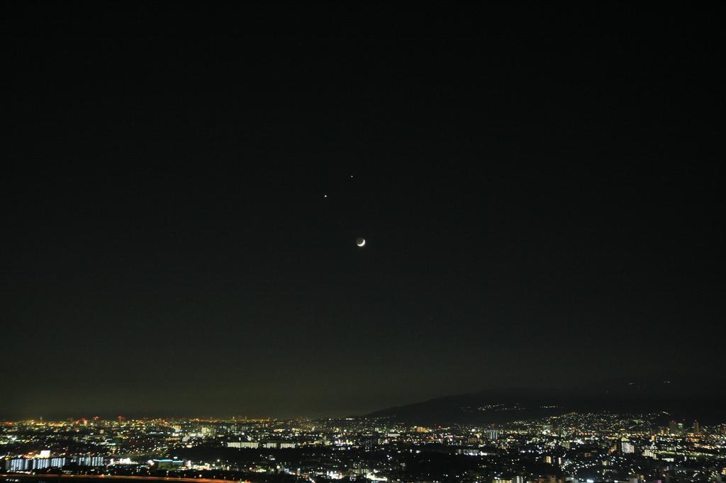 2008.12.01月・金星・木星接近2