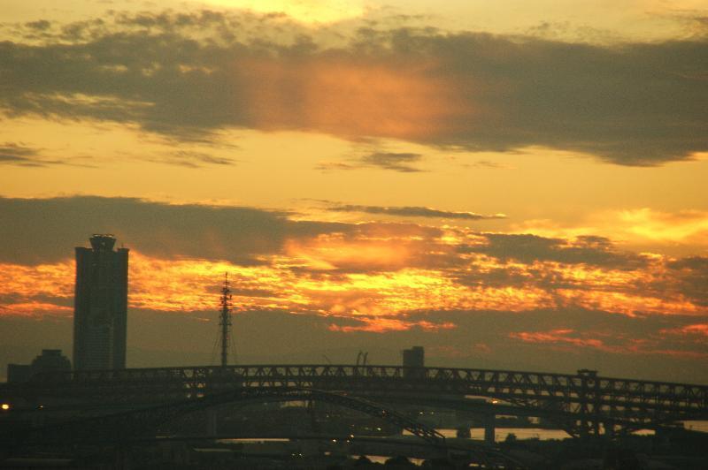 通天閣からの夕焼け