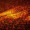 石畳に散る秋・・