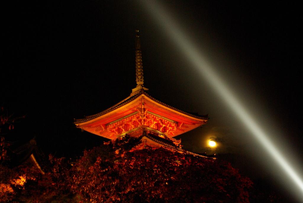 清水寺の月