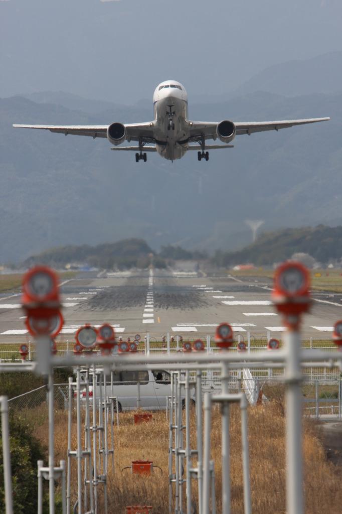 高知空港離陸!