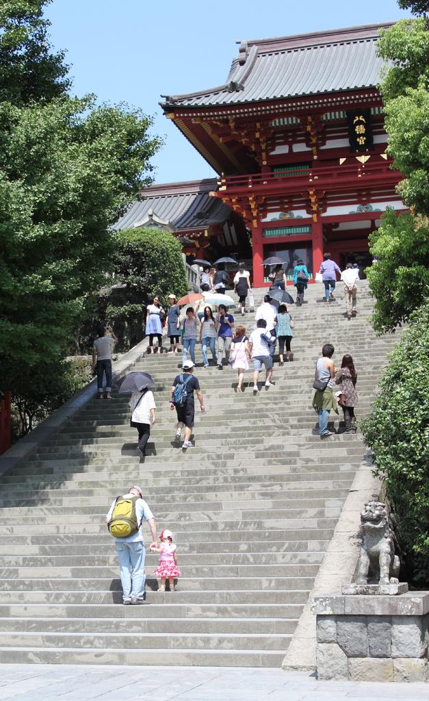 鶴岡八幡宮の階段