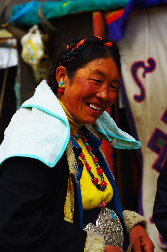 チベットのお母さん