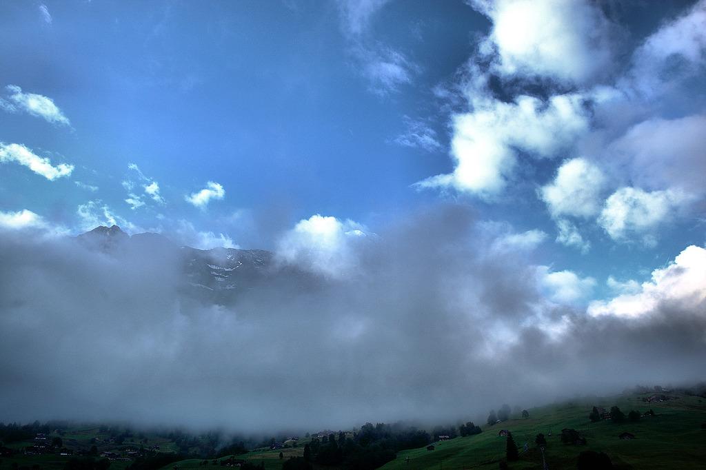 雷雨の後の朝