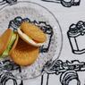 NIKON NIKON D80で撮影した食べ物(アイスクリーム&ビスケット)の写真(画像)
