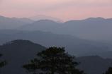 夕暮れの山並み