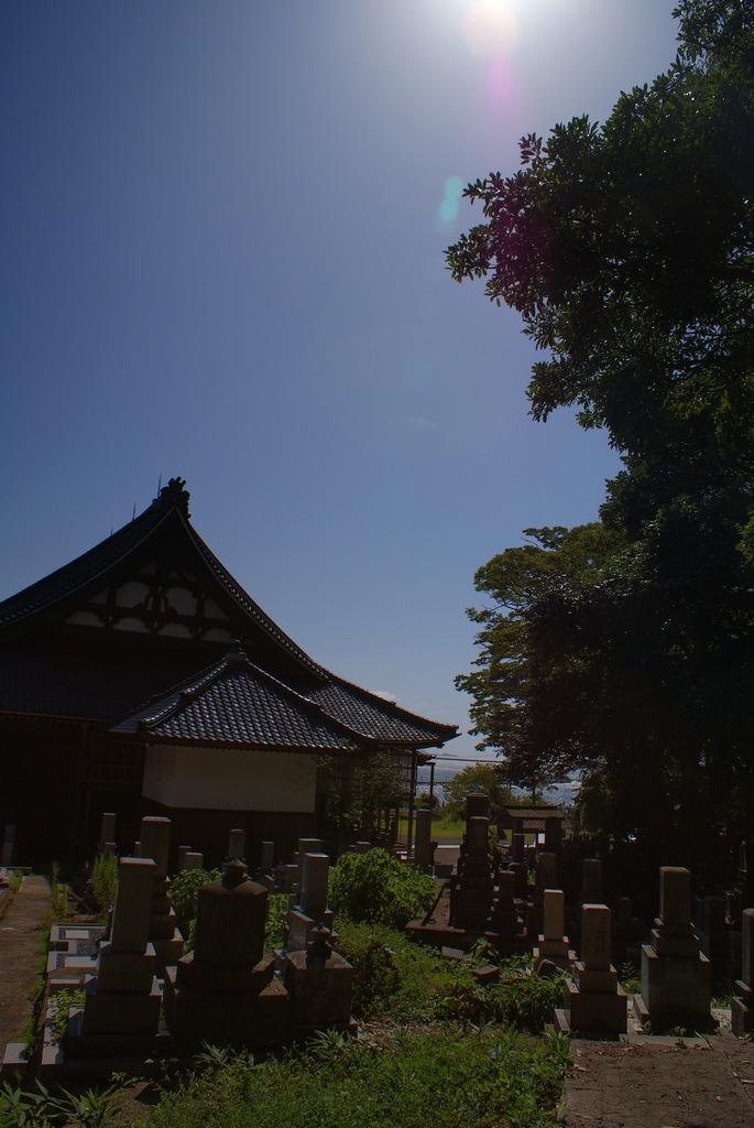 墓と寺院と海