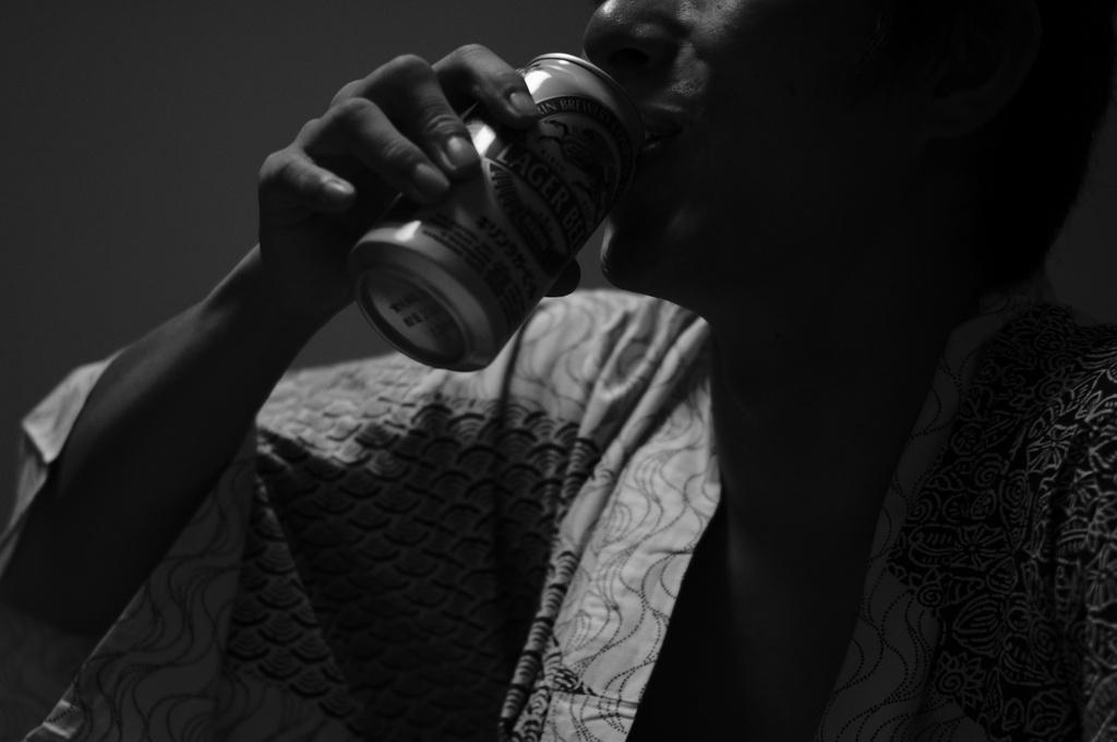 ビール飲みます