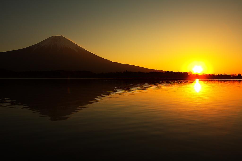 富士山と日の出!