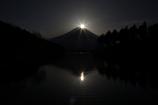 田貫湖からのダブルダイヤモンド富士。