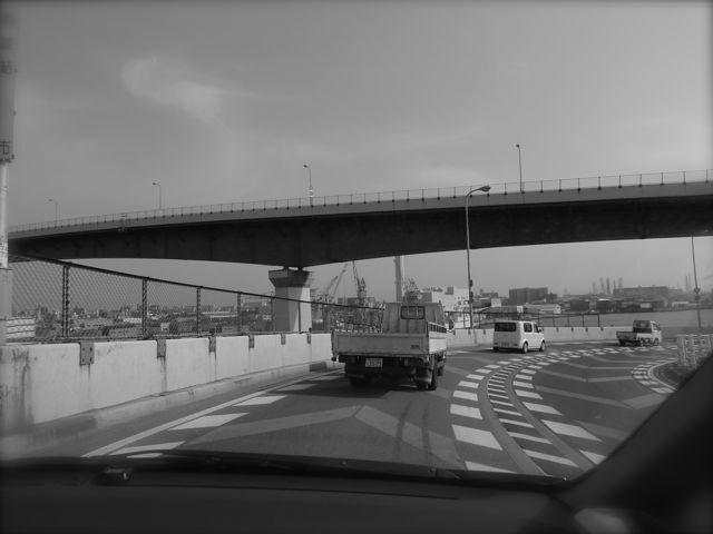 千本松大橋で。