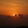 定光寺展望台から、夕日。