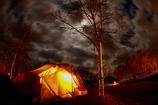 キャンプ場にて