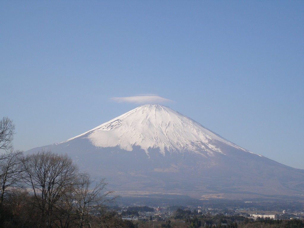 cloud on the Mt.FUJI