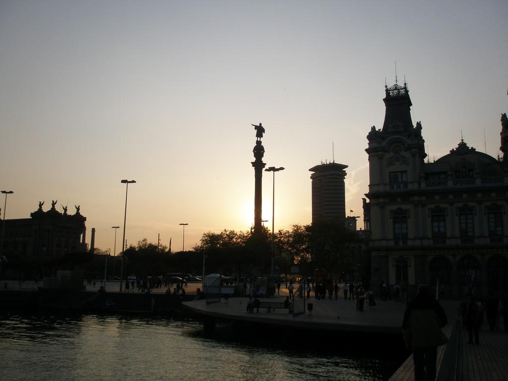 バルセロナの日暮れ
