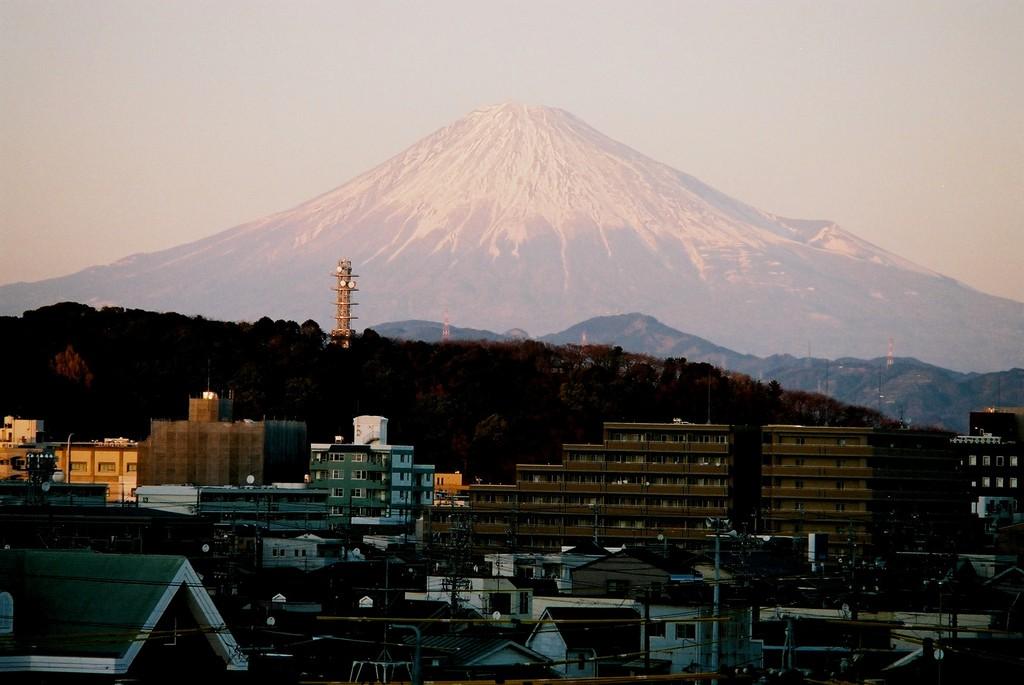 会社屋上からの富士山