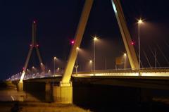 夜の美原大橋