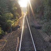 OLYMPUS E-420で撮影した風景(わたらせ渓谷鐵道線路)の写真(画像)