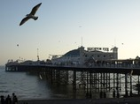 Brighton pier, amusement upon the sea