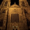 minster in the night
