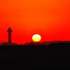 波崎海岸から見た朝日