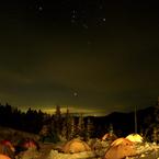 PANASONIC DMC-FZ30で撮影した風景(キャンプサイトのオリオン)の写真(画像)