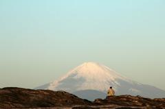 富士を望む・・・