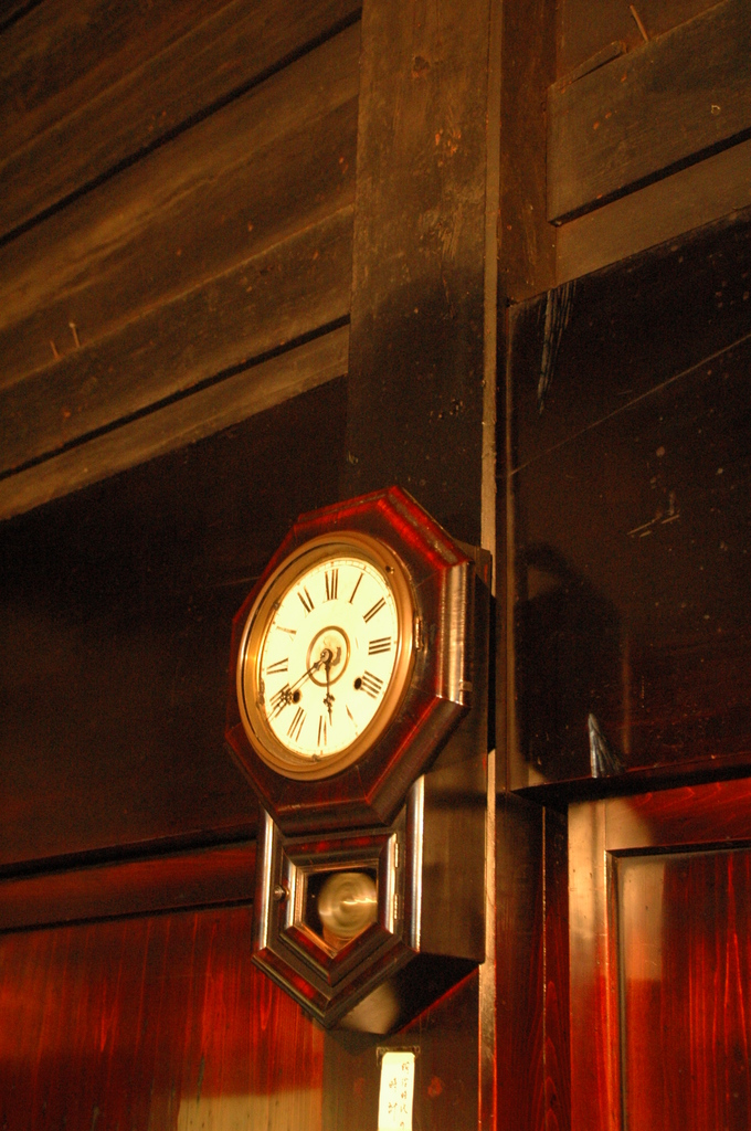白川郷 家の中の時計