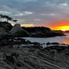 荒崎海岸の夜明