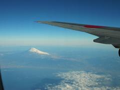 飛行機から見る富士