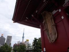 浅草寺から GX200真夏のスカイツリー