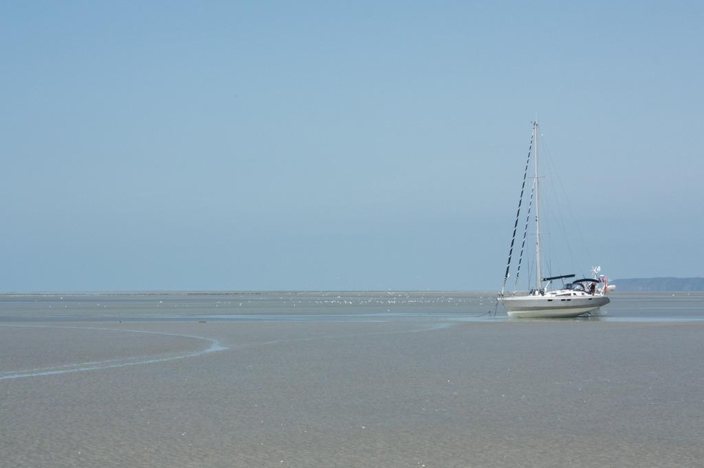 干潮時のサン・マロ湾