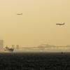 東京ゲートブリッジと飛行機