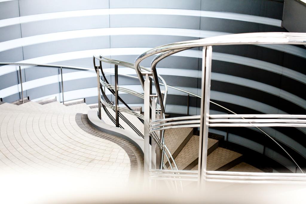 round stairway