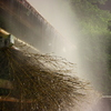 竹製温泉冷却装置
