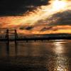 昇開橋の夕景