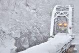 3月、雪の第四橋梁。
