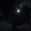 雲間の月と木星