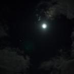 NIKON NIKON 1 J2で撮影した(雲間の月と木星)の写真(画像)