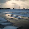 NIKON NIKON 1 J2で撮影した(雪と光芒の田んぼ)の写真(画像)