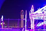 中部国際空港のクリスマスイルミネーションと管制塔