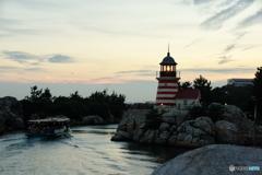夕陽とハリケーンポイントライトハウス(灯台)